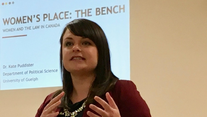 "November General Meeting Highlights: ""Women's Place: The Bench. Women and the Law in Canada"""