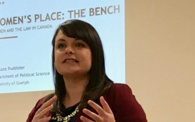 """November General Meeting Highlights: """"Women's Place: The Bench. Women and the Law in Canada"""""""